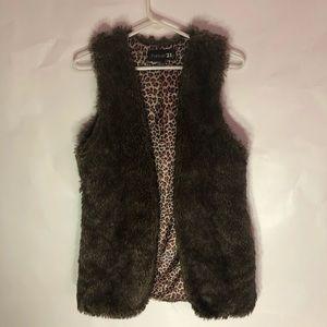 🐆Leopard Print Fur Vest ❄️